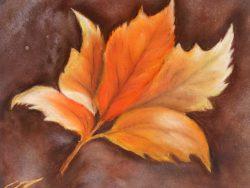 Autumn Leaf in Pastel