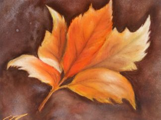Autumn Leaf in Pastel