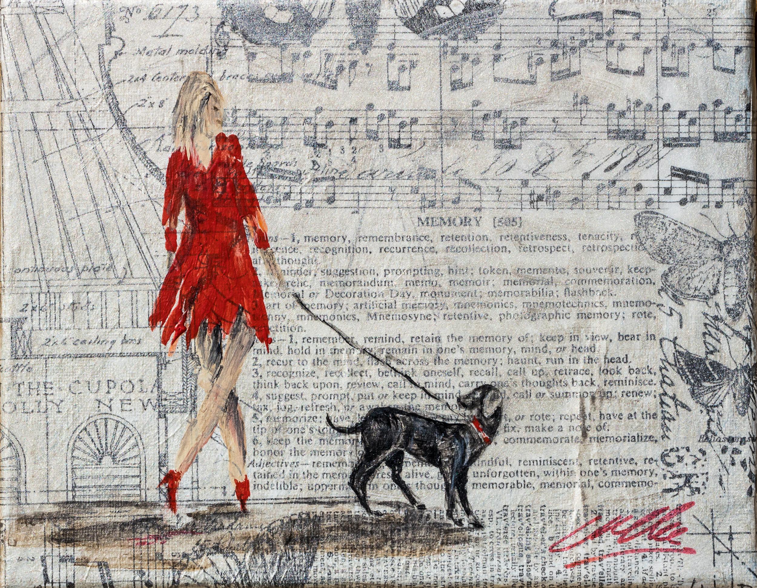 Musical red dress walk