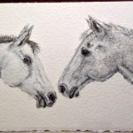Horse love _Charcoal