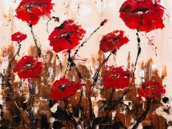 Abstract Red poppies - Fine art prints available
