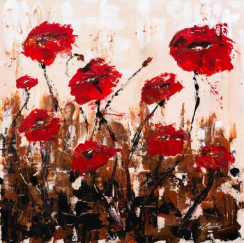 Abstract Red poppies - Fine art quality prints available